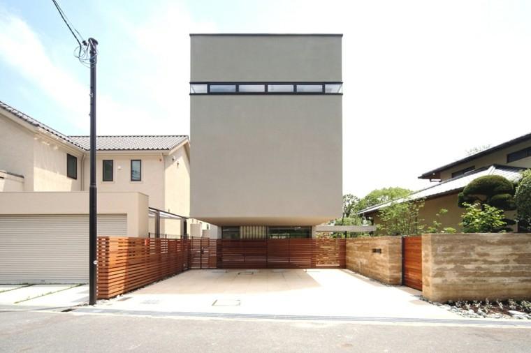 diseño fachada minimalista contemporanea
