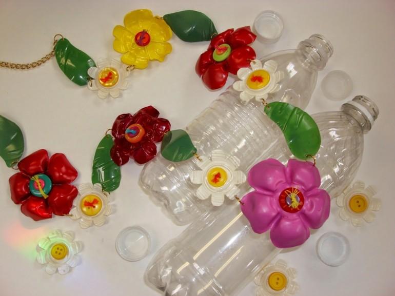 diseños adornos botellas plastico colores