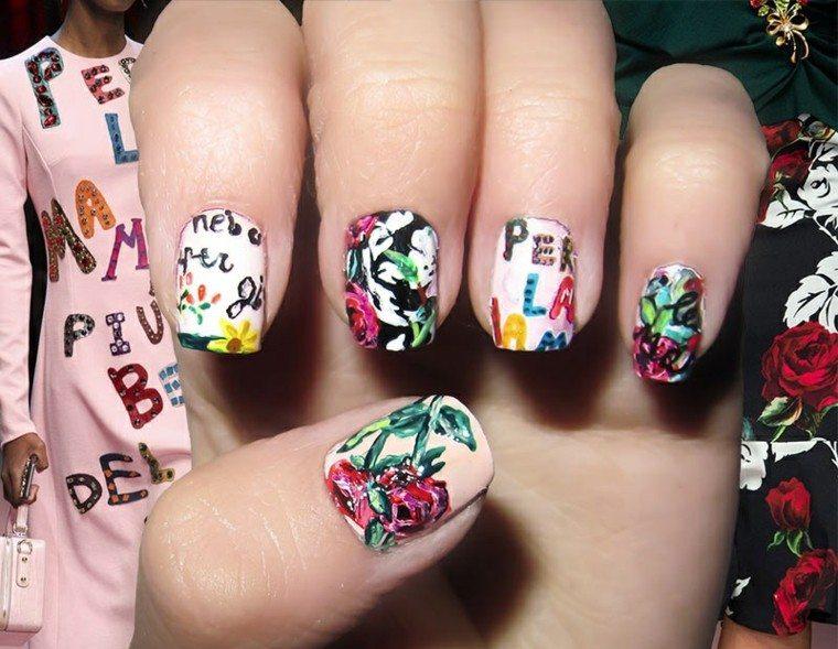 diseño de uñas inspiradas pasarela dolce gabbana ideas