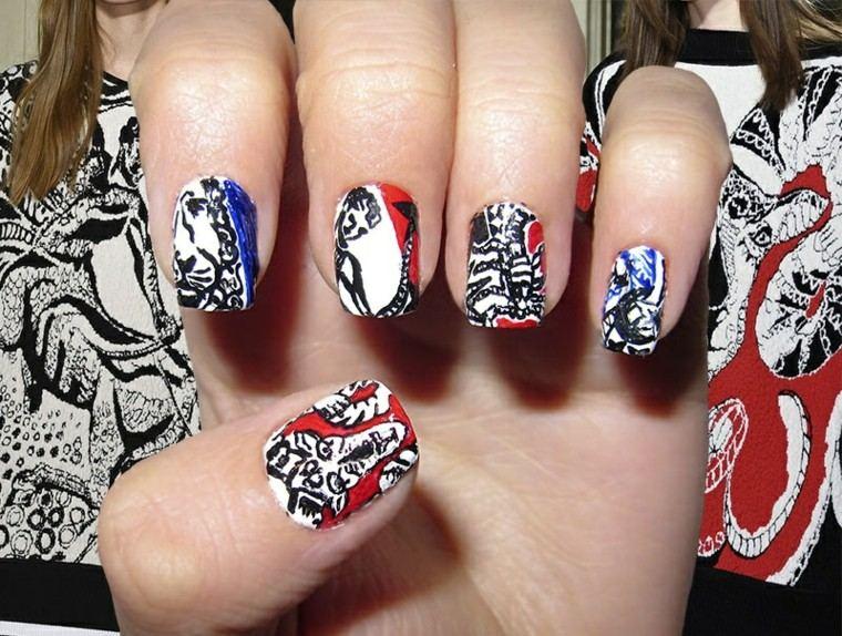diseño de uñas inspiradas pasarela emilio pucci ideas