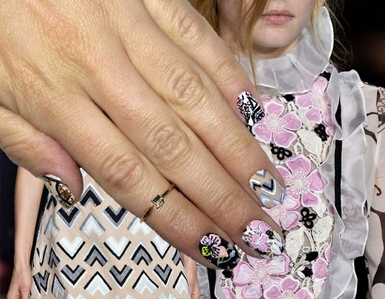 diseño de uñas inspiradas pasarela giambattista valli ideas