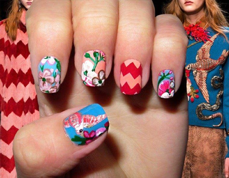 diseño de uñas inspiradas pasarela gucci ideas