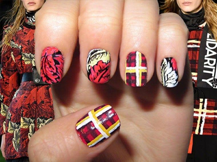 diseño de uñas inspiradas pasarela marc by marc jacobs ideas