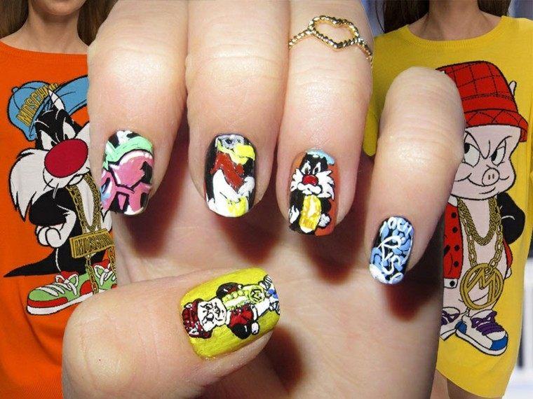 diseño de uñas inspiradas pasarela moschino ideas