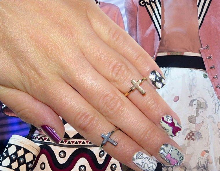 diseño de uñas inspiradas pasarela olympia le tan ideas