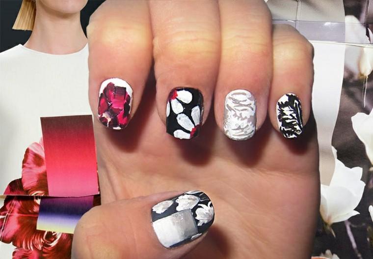 diseño de uñas navidenas Carolina Herrera ideas