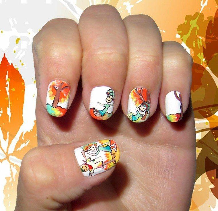 Fun Fall Nail Designs: Diseño De Uñas Tendencias E Ideas Para El Invierno 2015