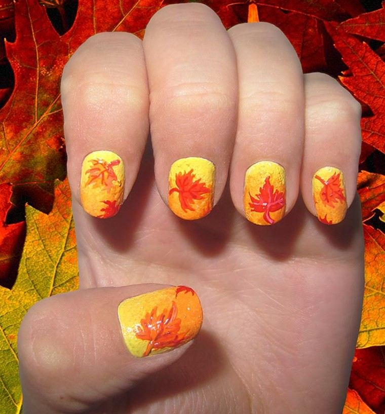 diseno unas navidenas hojas colores calidos ideas