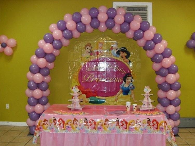 disney rosa decorado cuerdas princesas niñas