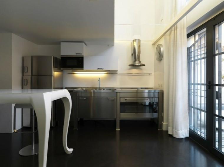 diseño cocina muebles acero