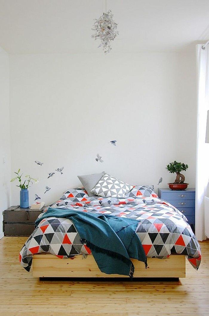 dormitorio escandinavo cama madera ideas