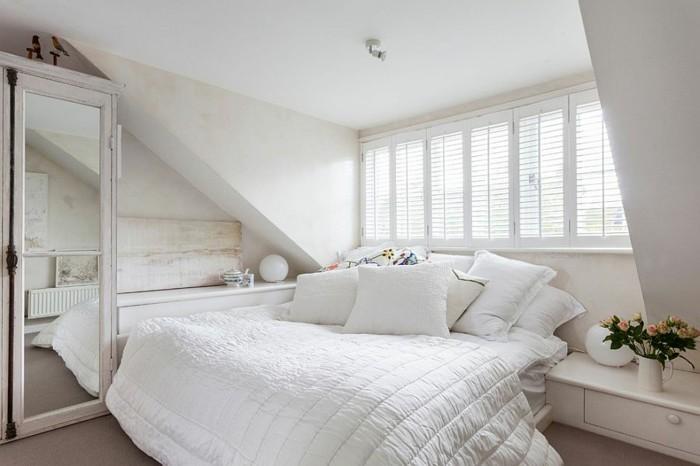 dormitorio femenino blanco espejos armario ideas
