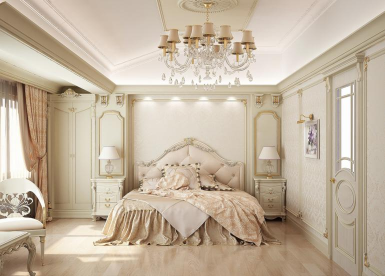 dormitorio retro color beige