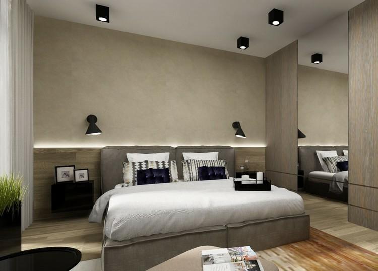 dormitorio moderno color gris