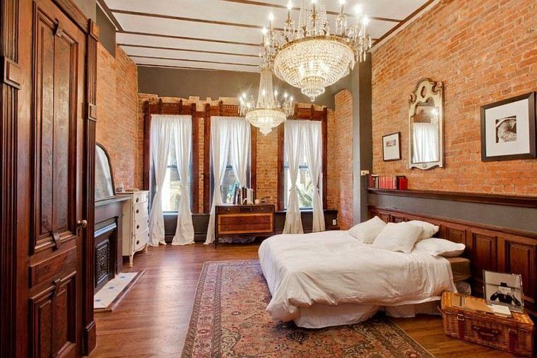 dormitorios opciones pared ladrillo candelabros ideas