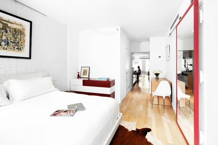 dormitorios opciones pared ladrillo cuadro decorativo ideas