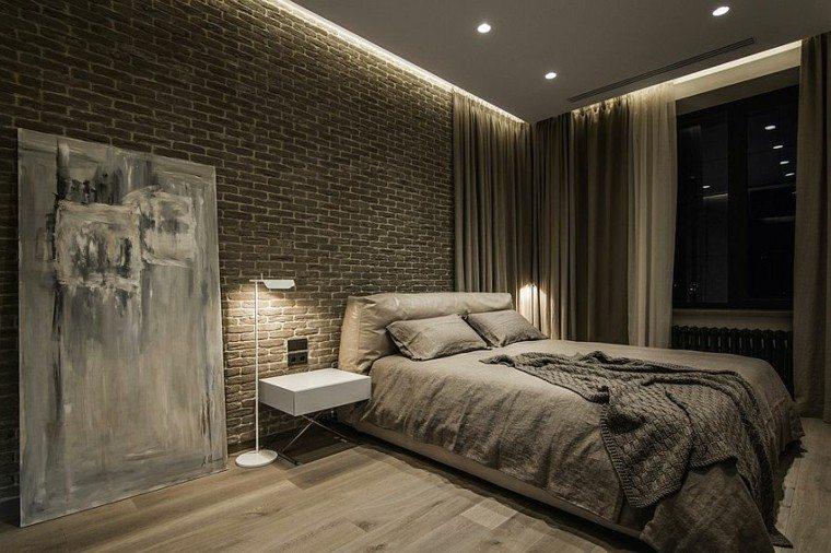dormitorios opciones pared ladrillo estilo casual ideas