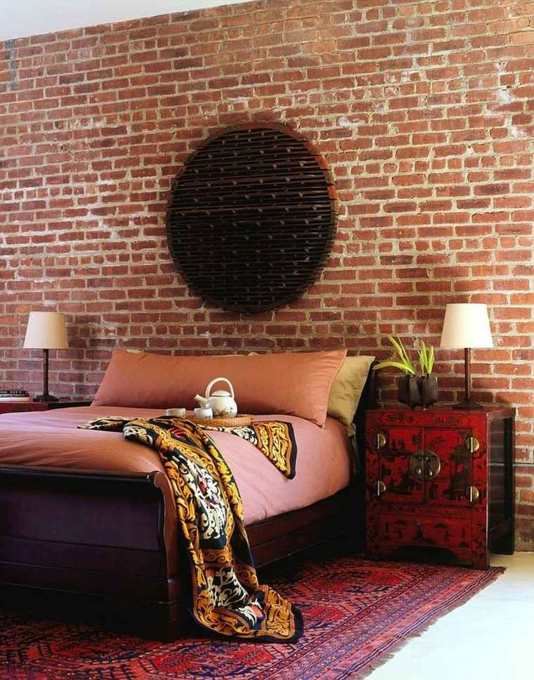 Dormitorios opciones originales de paredes de ladrillo - Dormitorio pared gris ...