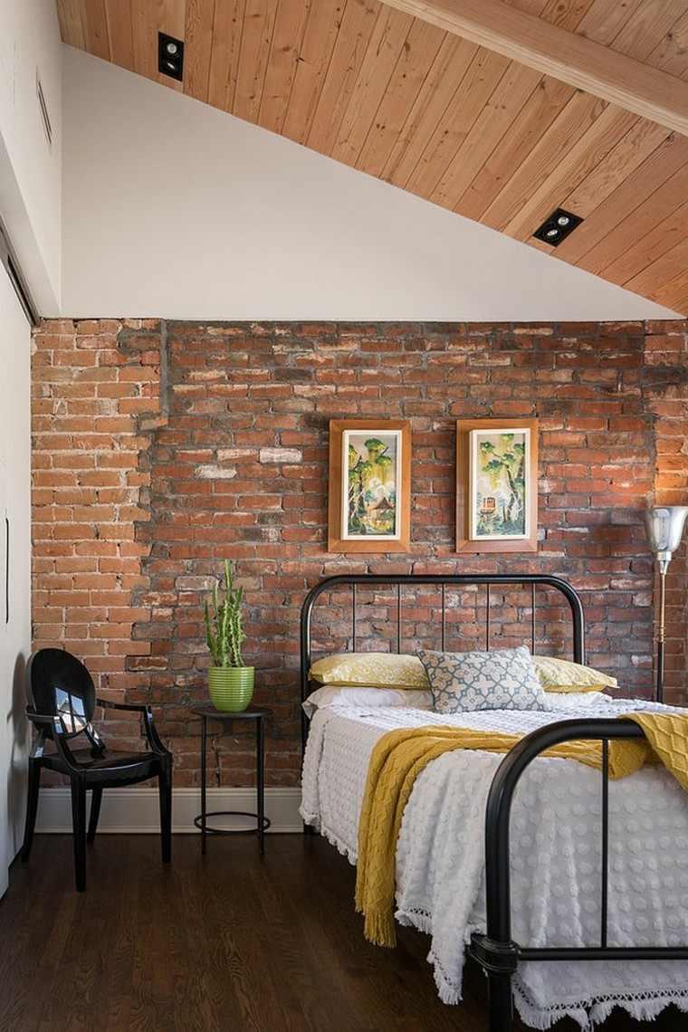 Dormitorios opciones originales de paredes de ladrillo Revestimiento para paredes dormitorios