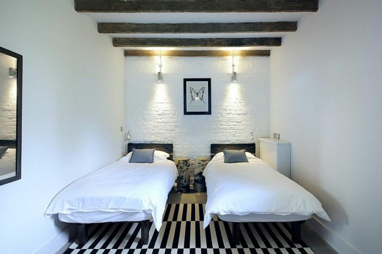 Dormitorios opciones originales de paredes de ladrillo - Pared ladrillo blanco ...