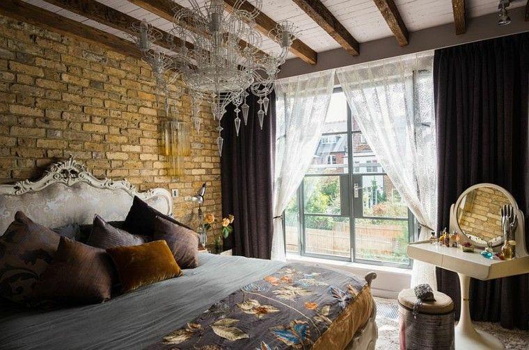 Dormitorios opciones originales de paredes de ladrillo - Dormitorio barroco ...