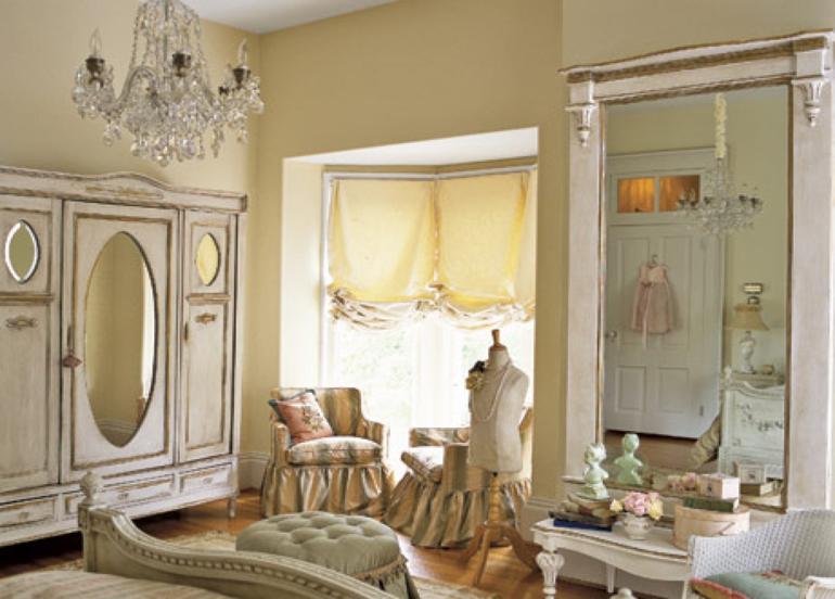 dormitorio estilo retro vintage lujoso