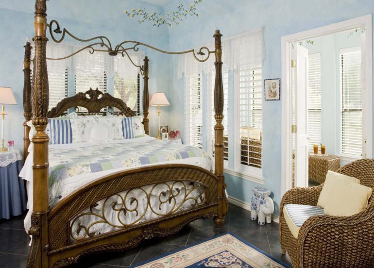 dormitorio estilo retro impresionante cama