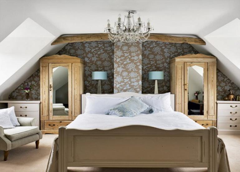 dormitorio estilo vintage pequeño atico