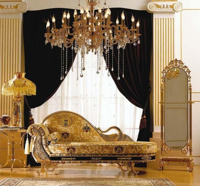 dormitorio estilo lujoso espejo retro