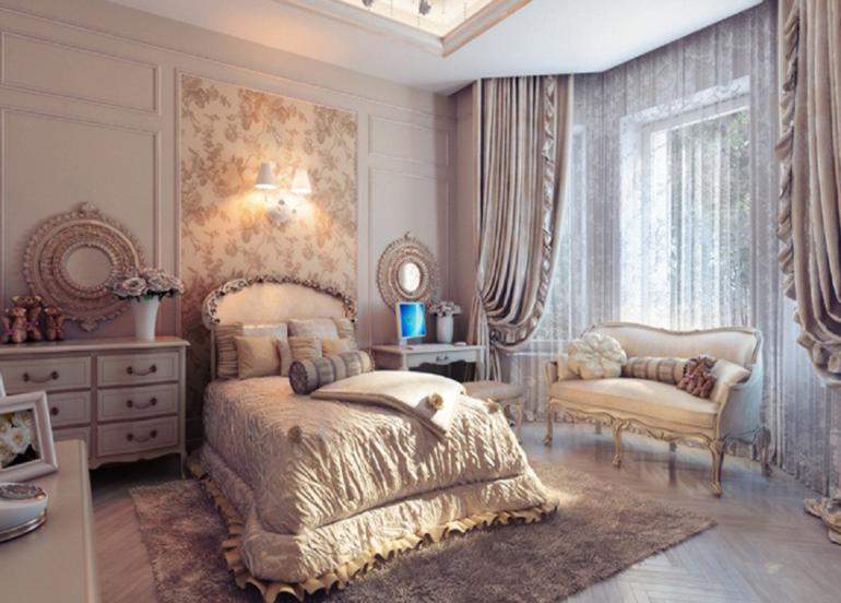 dormitorio estilo lujoso estilo vintage