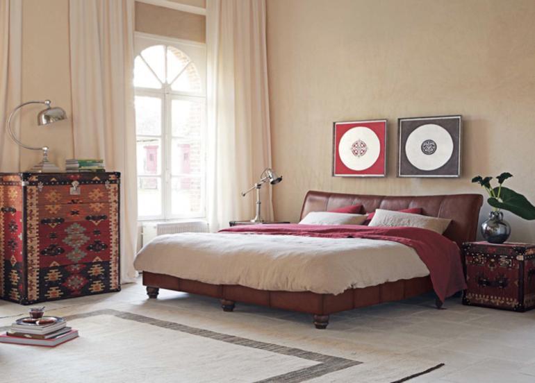 dormitorio muebles piel estilo retro