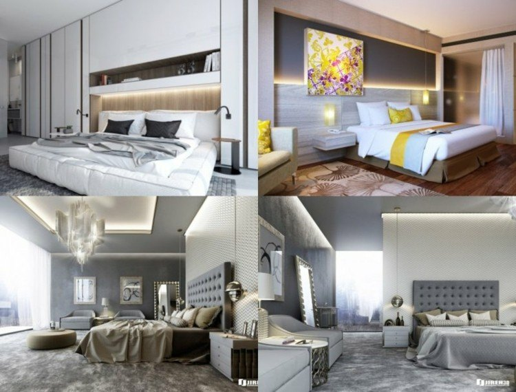 diseños dormitorios modernos iluminacion led