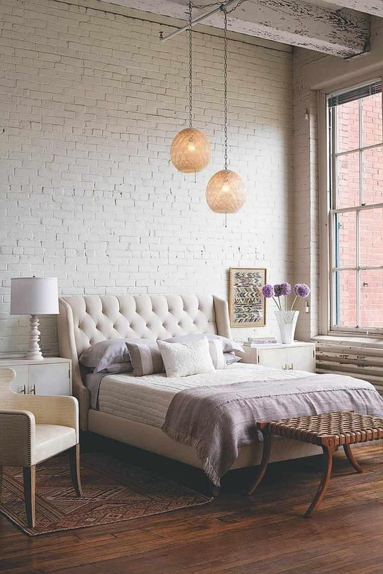 Dormitorios Opciones Originales De Paredes De Ladrillo - Pared-ladrillo-blanco