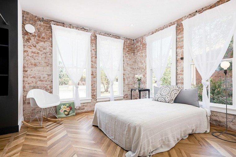 dormitorio opciones pared ladrillo luz natural ideas
