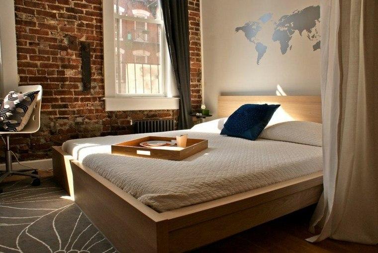 dormitorio opciones pared ladrillo moderno ideas