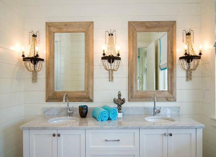 Espejos para ba os los 38 modelos m s modernos for Espejos redondos con marco de madera