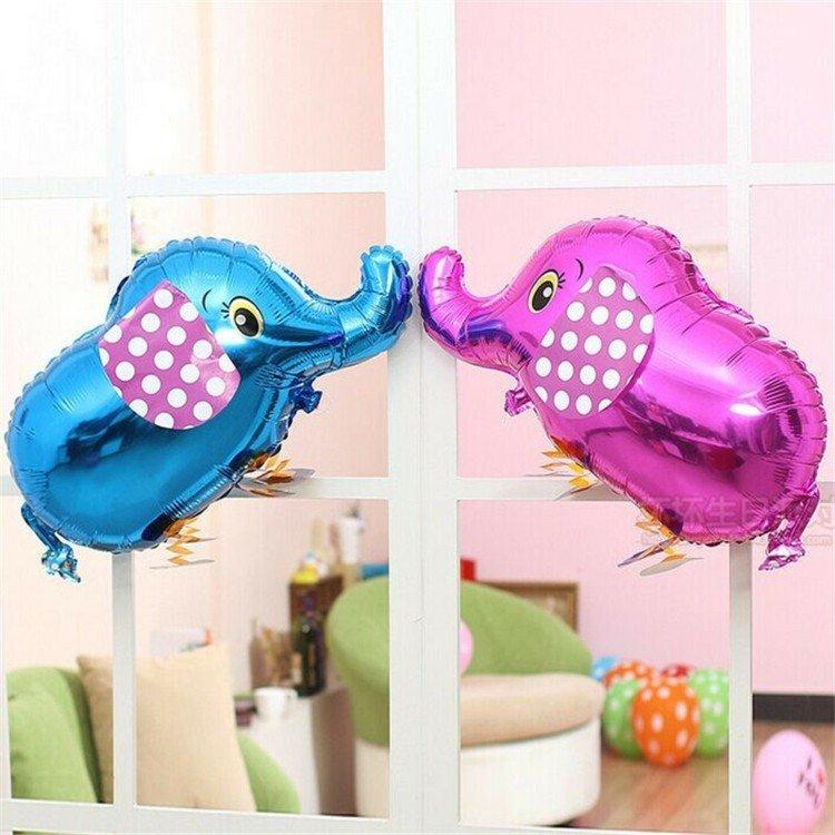 dos globos helio elefantes colores