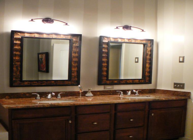 cuarto baño dos espejos para baños modernos