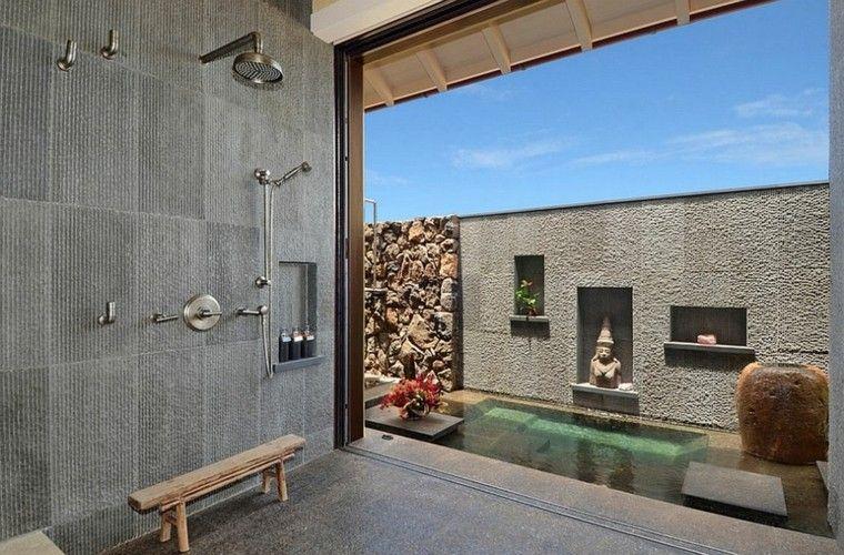 diseño baños modernos hormigon