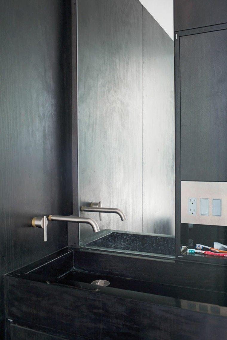 ducha lavabo paredes microcemento