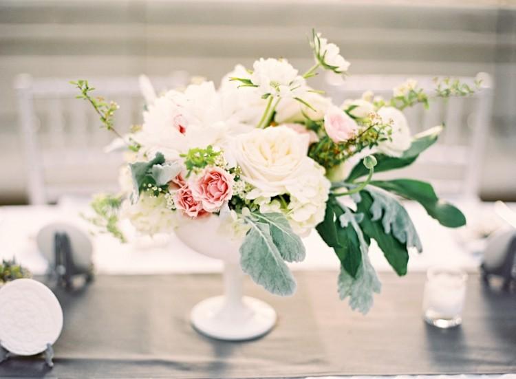 elegantes estilos flores casa mesas