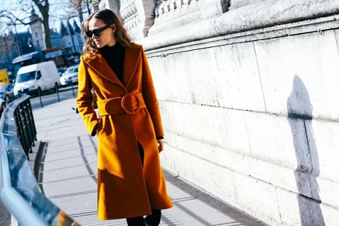 tendencias invierno 2015 abrigo color mostaza ideas