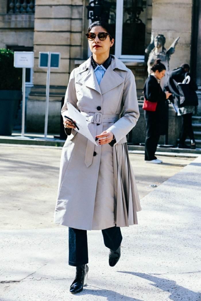 ropa invierno 2015 abrigo gris largo ideas