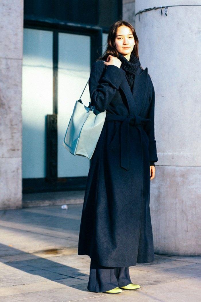 ropa invierno 2015 abrigo hasta suelo negro ideas