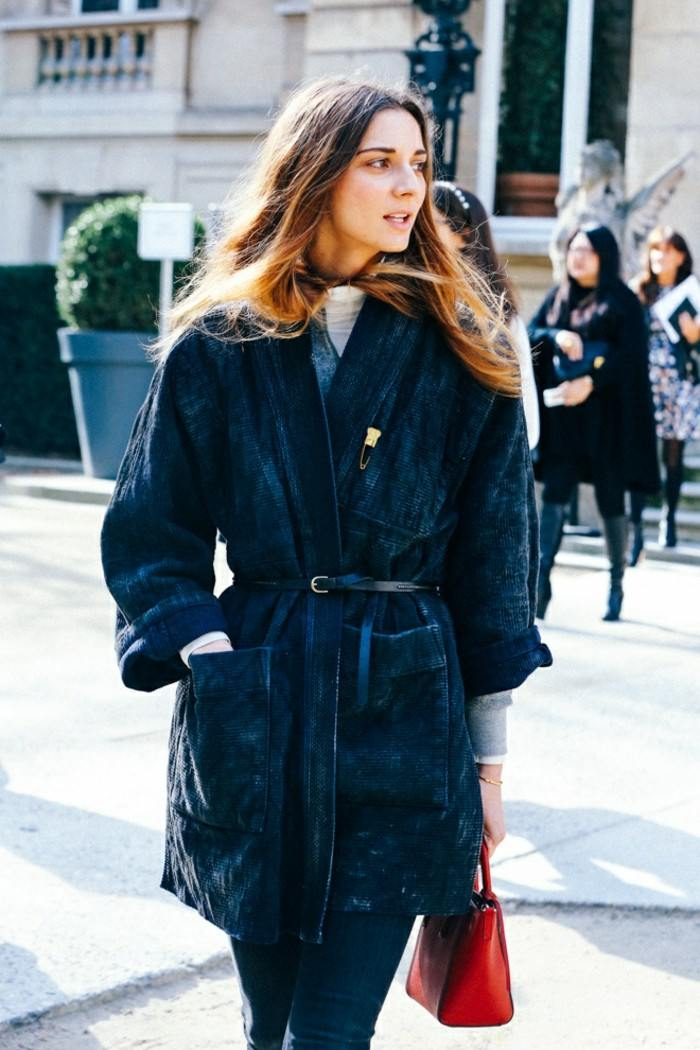 ropa invierno 2015 abrigo negro largo ideas