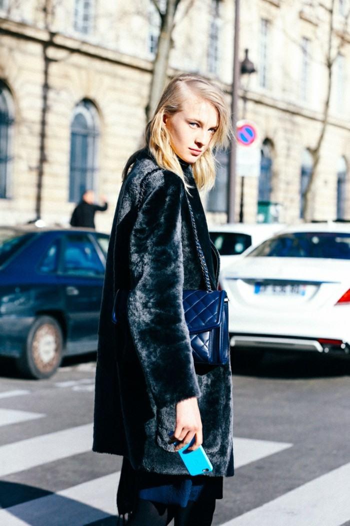 ropa invierno 2015 abrigo negro ideas