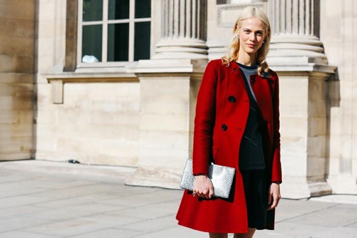 invierno 2015 abrigo rojo ideas