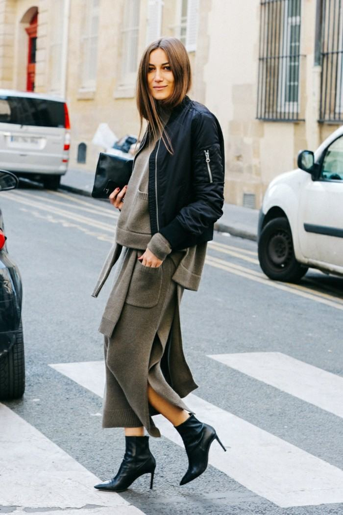 ropa invierno 2015 blusa falda lana ideas