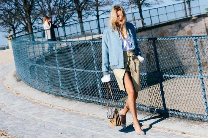 tendencias invierno 2015 falda color beige ideas