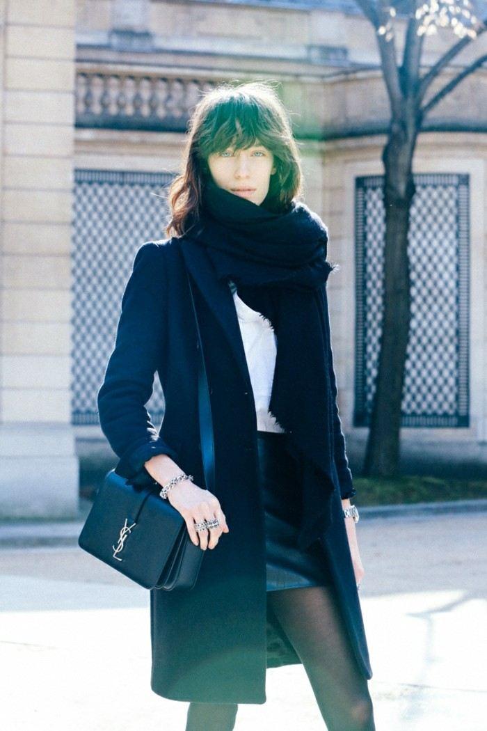 invierno 2015 falda corta cuero ideas
